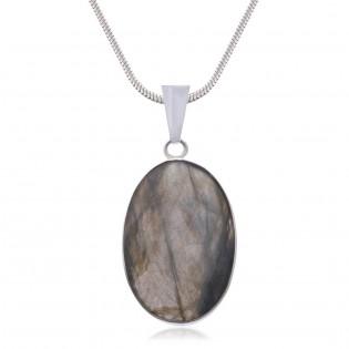 Wisiorek srebrny z naturalnym kamieniem - magicznym labradorytem